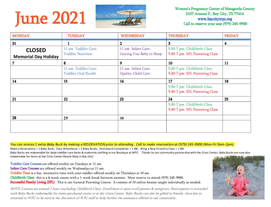 WPC April 2021 Calendar